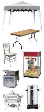 Party rentals in Hillsboro OR, Farmington, Forest Grove OR, Aloha Oregon, Banks OR, North Plains OR, Cornelius OR