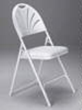 Where to rent CHAIR WHITE FAN BACK FOLDING in Cornelius OR