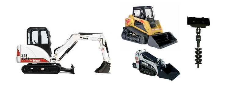 Earth moving equipment rentals in Cornelius
